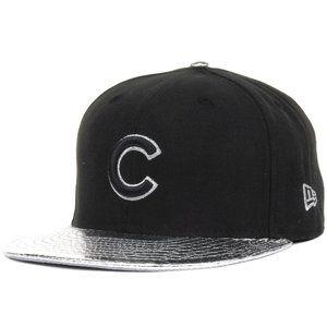New Era Chicago Cubs Silver Chrome Visor Hat 7 1/2